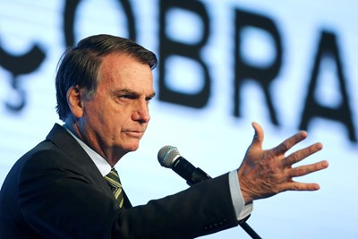 Бразилският президент Жаир Болсонаро СНИМКА: Ройтерс