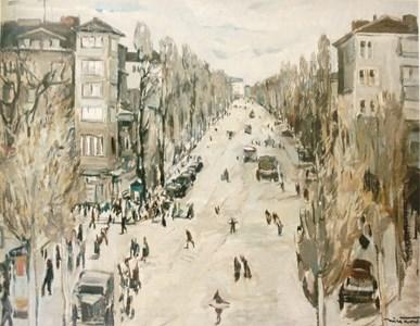 Пейзаж от София - любима тема на художника