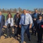 Г-жа Мустафа заедно с Бойко Борисов, посланиците на Гърция и Азербайджан правят инспекция на проекта за междусистемна газова връзка Гърция - България.