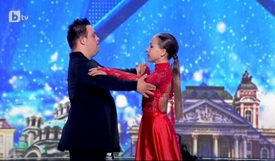 """Наско и Алис танцуват в """"България търси талант"""".  СНИМКА: Btv"""
