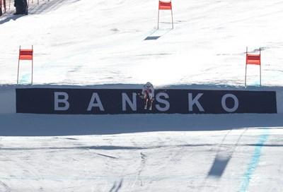 Йохана Хеелен бе най-бърза в тренировката за спускането в Банско. Снимки: Костадин Андонов