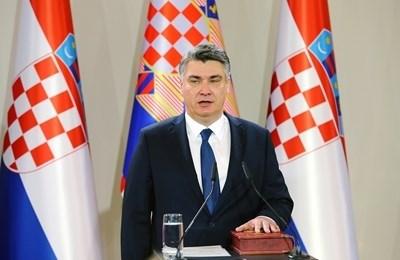 Хърватският президент Зоран Миланович СНИМКА: Ройтерс