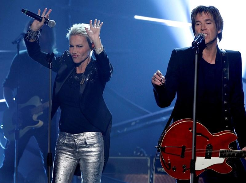 """Мари Фредриксон и Пер Гесле създават шведския дует """"Роксет""""."""