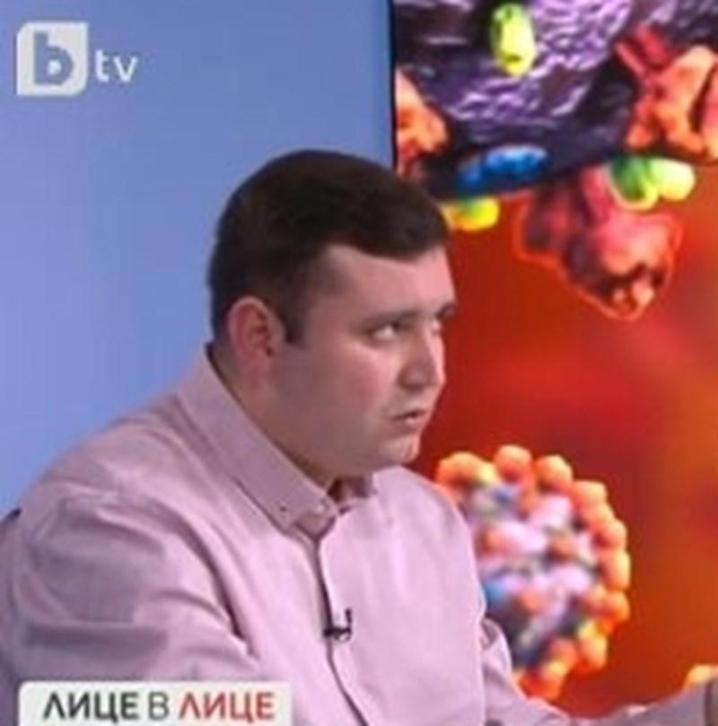 Инфекционистът д-р Трифон Вълков. Кадър Би Ти Ви