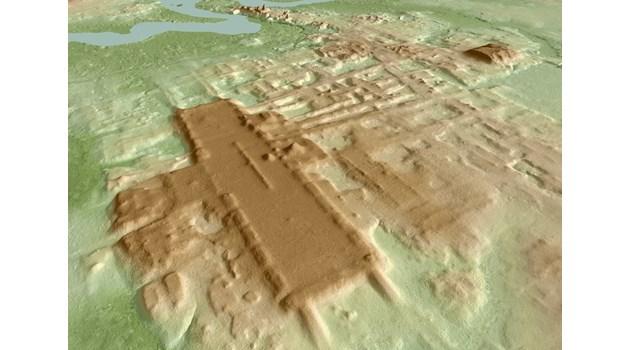 Гигантско  съоръжение на маите засенчва Хеопсовата  пирамида