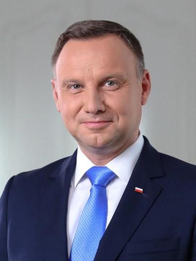 Президентът на Полша Анджей Дуда СНИМКА: Посолство на Полша в България