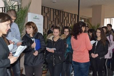 Проектът бе представен в професионалната гимназия по хранителни технологии в Пловдив