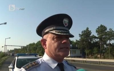 """Началникът на """"Охранителна полиция"""" и КАТ в Бургас комисар Неделчо Рачев Кадър: Би Ти Ви"""