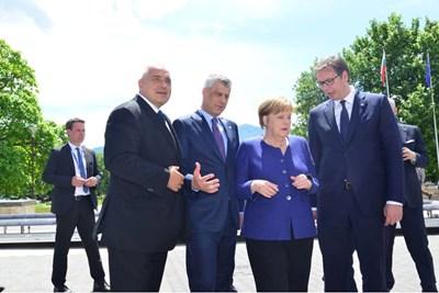 Бойко Борисов, Хашим Тачи, Ангела Меркел и Александър Вучич СНИМКА: Фейсбук