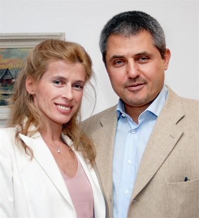 Бианка и съпругът й д-р Чавдар Нинов