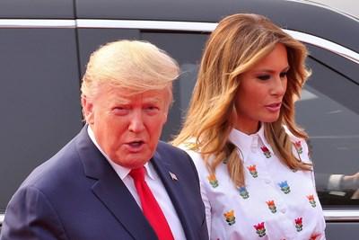 Доналд Тръмп и Мелания Тръмп в Делхи СНИМКИ: Ройтерс
