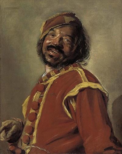 """Усмихнато лице, защото не е знатен и богат човак, нарисувано от Франс Халс в """"Мулат""""."""