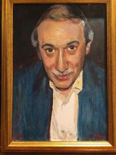 Портрет на Кеворк Кеворкян, нарисуван от Дора Бонева през 2013 г. СНИМКА: Личен  архив