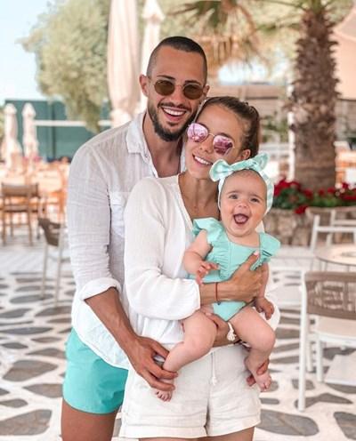 Наум, Теа и дъщеря им Амая. СНИМКА: Официален фейсбук профил