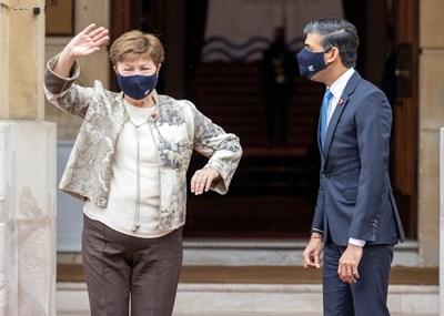 Кристалина Георгиева на форума на Г-7 в Англия СНИМКА: РОЙТЕРС