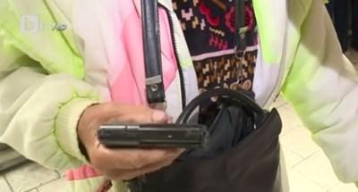 Жената показа законно притежаван газов пистолет