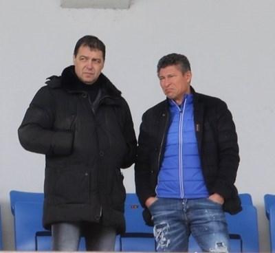 Петър Хубчев и Красимир Балъков Снимка: Благой Кирилов