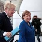 Борис Джонсънс германския канцлер Ангела Меркел Снимка: Ройтерс