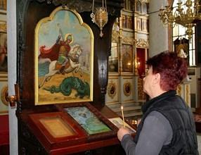 Иконата на свети Георги е сред реликвите на пловдивската църква.