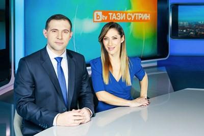 "Златимир Йочев и Биляна Гавазова в студиото на ""Тази сутрин"" СНИМКА: Би Ти Ви"
