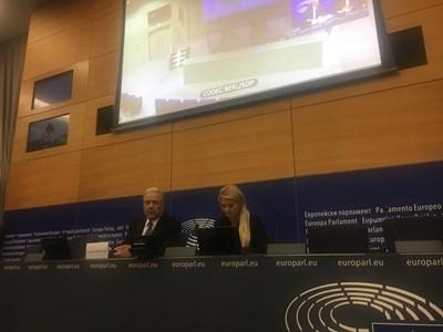 Димитрис Аврамопулос след заседание на колежа на Европейската комисия в Страсбург СНИМКА: Кристина Кръстева