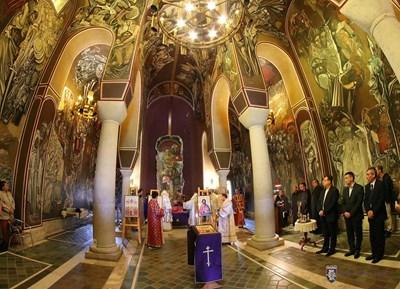 Света литургия за храмовия празник Възнесение Господне бе отслужена в Патриаршията на Царевец СНИМКА: Община Велико Търново