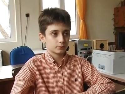 11-годишният Димитър Самаров  Кадър: Нова телевизия