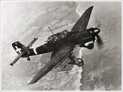 """Самолет """"ЩУКА - Юнкерс 87"""" по време на полет"""
