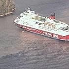 Заседналият ферибот с 280 души край остров в Балтийско море Снимка: Туитър/ Merivartiosto - LSMV