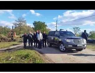 Президентът Румен Радев посети наводнените села в Бургаско