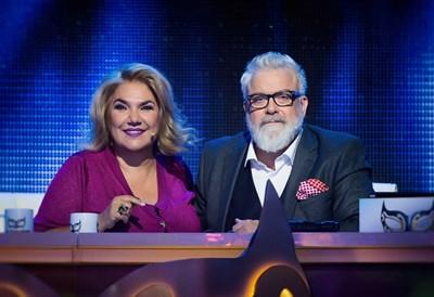 """Марта Вачкова и Владо Пенев са в журито на """"Маскираният певец"""" през този сезон. СНИМКА: Нова тв"""