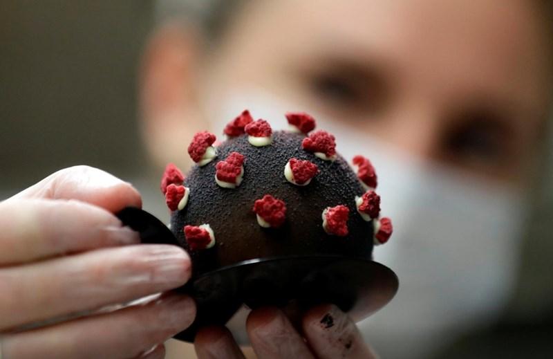 Кафене в Прага предлага сладкиши с форма на коронавирус Снимки: Ройтерс