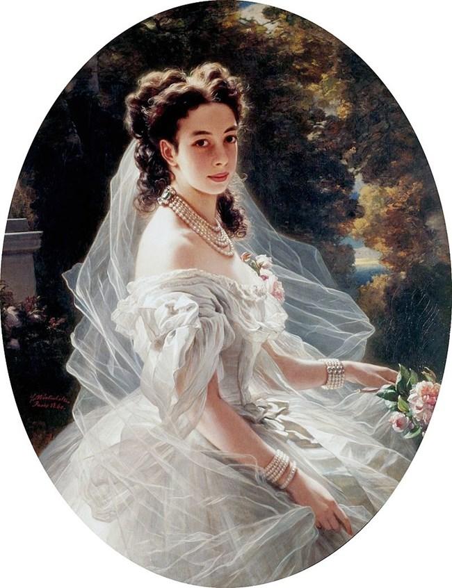 Портрет на принцесата от 1860 година от Франц Ксавие Винтерхалтер