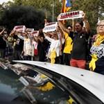 Обща стачка в израз на недоволство от съдебните присъди срещу деветима каталунски лидери блокира днес обществения живот в испанската автономна общност Каталуня. Снимка РОЙТЕРС