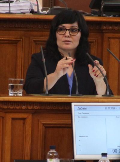 Проф. Стоименова в парламента през август 2018 г. СНИМКА: РУМЯНА ТОНЕВА