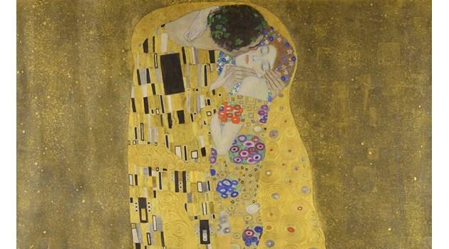 """""""Целувката"""" - тайната на Климт, който скришом рисува любовта си"""