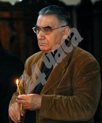 Светлин Русев на панихида през 2008 г. СНИМКА: 24 часа