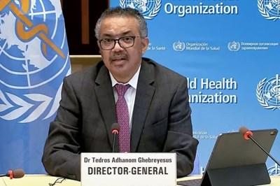 Генералният директор на Световната здравна организация Тедрос Гебрейесус СНИМКА: Радио Китай