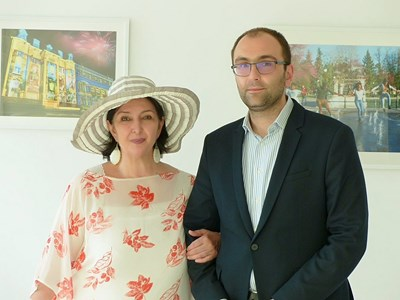 Вики Алмазиду се срещна със зам.-кмета на Пловдив Пламен Панов.