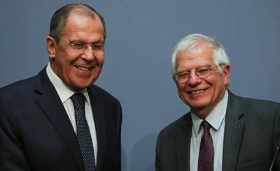 Сергей Лавров и Жозеп Борел Снимки: Ройтерс