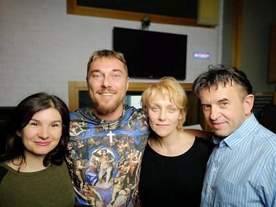 Миро, Койна Русева и Игор Марковски са в звукозаписното студио от няколко дни.  СНИМКА: ФЕЙСБУК