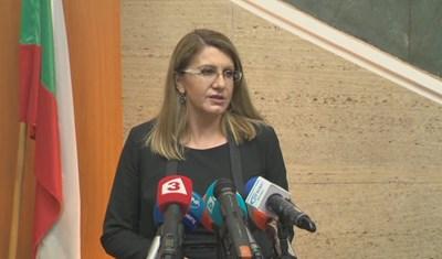 Правосъдният министър Десислава Ахладова КАДЪР: БНТ