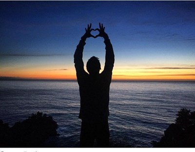 Последната снимка на тенисиста в социалните мрежи. Той вече е в Лос Анджелис и се радва на океана.