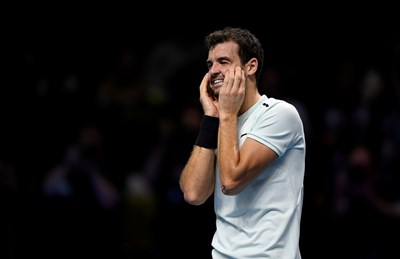След триумфа си във финалния турнир на АТР в Лондон Гришо прибави 1500 точки към актива си. Снимка РОЙТЕРС