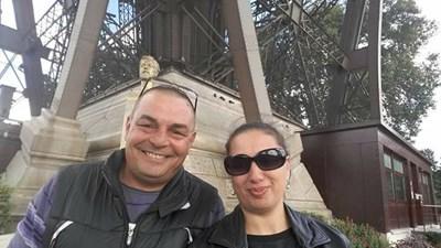 Иван и Венета преди две години, когато живеят щастливи в апартамента му в София.