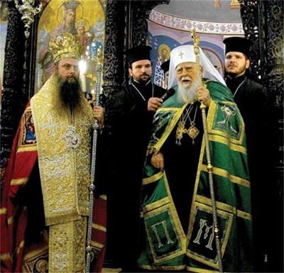 Българският патрирах Максим е духовният баща на пловдивския митрополит Николай според каноните на църквата.  СНИМКА: Атанас Кънев