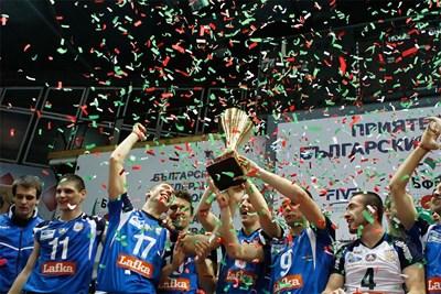 """Волейболният тим донесе втори трофей на """"Левски"""" този сезон. СНИМКА:"""
