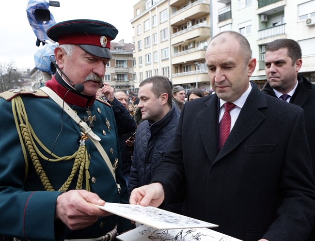Президентът Румен Радев на тържеството в Русе  СНИМКА: ПРЕССЕКРЕТАРИАТ НА ПРЕЗИДЕНТА