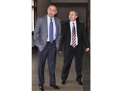 Главният прокурор Борис Велчев иска отстраняването на шефа на окръжната прокуратура в Хасково Иван Ванчев (вдясно). СНИМКА: БУЛФОТО