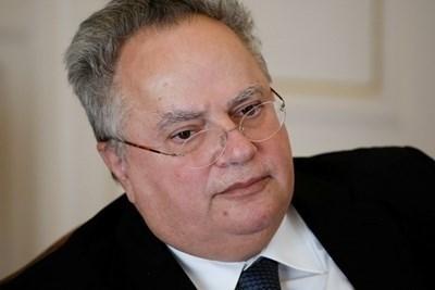 Бившият гръцки външен министър Никос Кодзиас. Снимка РОЙТЕРС